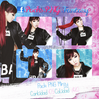 Pack PNG Minzy (2NE1) by GAJMEditions