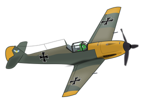 Konrad's Messerschmitt  Me 109 by BRONYVAGINEER
