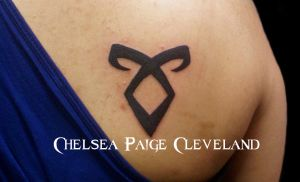 Angelic Rune - Tattoo by Chelsea Cleveland by SmilinPirateTattoo