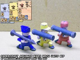 Papercraft Advance Wars Mech units WIP3 by ninjatoespapercraft