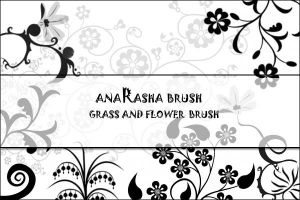 Grass and flower Brush by anaRasha-stock