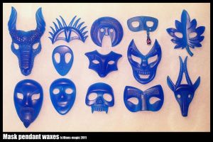 A bunch of masks 1 by Dans-Magic
