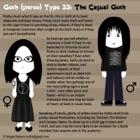 Goth Type 33: The Casual Goth by Trellia