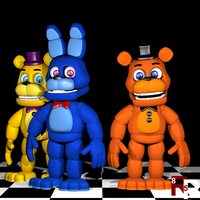 Fnaf World Models by RedPanda85