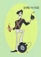 Pixar Madness Month - Day 13 - Bomb Voyage by tyrannus