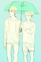 of umbrellas and height differences by citrancs