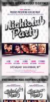 Nightclub Party Flyer Template by mihaimcm94