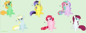 MLP adoptable ponies - closed by snakehands