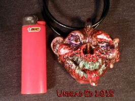 Zomboy Pendant by Undead Ed Glows in the Dark 4 by Undead-Art