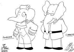 Babar - Pompadour and Cornelius by MortenEng21