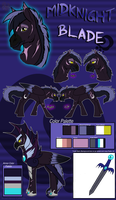 .:Reference Sheet:. Midknight Blade by phenoxfire