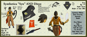 Synthetica and Direo Second Draft Reference sheet by Ethereal-Blaze