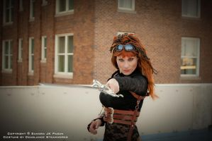 Captain Kit of the Airship Tempest by deadlanceSteamworks