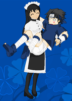 Scarlett carrying Sasuke by Sweetgirl333
