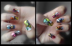 cracky nail design by lafince