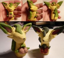Shiny Leafeon Jizo by ChibiSilverWings