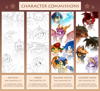CHARACTER COMMISSION SHEET by Heilos