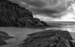 Ragged Rocks by Vraxor22