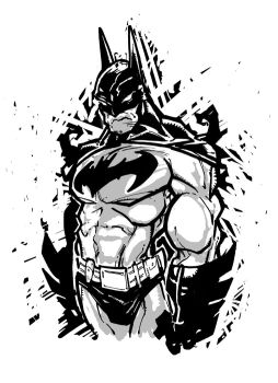 Batman in Black and White by Fexx-Neon