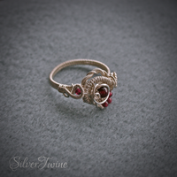 Silver Garnet Ring by SilverTwine