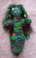 Forest Spirit Beaded Doll by jardan