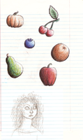 Merida and some fruit by sketchris