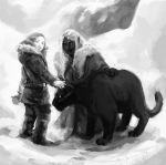 Drizzt meets Catti-brie by Palila