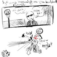 basketball court's accident by pin9yuu