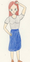 Confused Blue Skirt by Leanneisme
