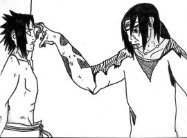 Sasuke and Itachi's Final Moment by tigernose123