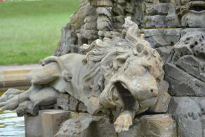 Lion Statue at Seehof Palace in Bamberg, Germany by Kitty1205
