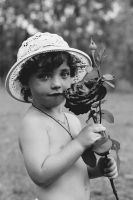 A boy with rose by AnastasiaSia