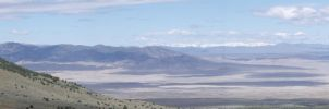 Ruby mountains in the distance by Urmar