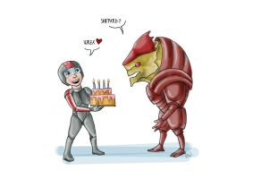 Wrex' B-Day by portobello92