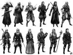 Battle-mage Character Thumbnails by Gillesketting