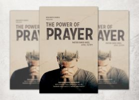 The Power of Prayer Church Flyer Template by loswl