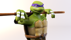 3DS Max - Donatello Render 2 by SilverMoonCrystal