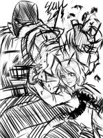 Sketch: the PAIN with Wriggle by MARKCW