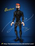 Bastian in latex catsuit and mask by karamelosmacizos