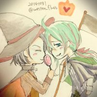 Happy Halloween! Makishima and Toudou by detritus122408