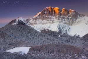 First light over the Veymont by XavierJamonet