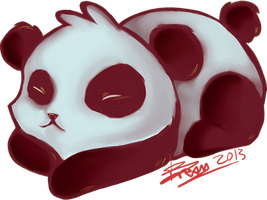Panda's Sticker by disp8