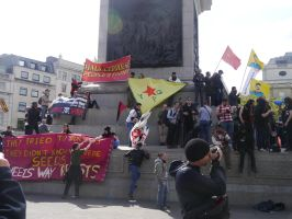 Banners on Nelson's Column by Party9999999