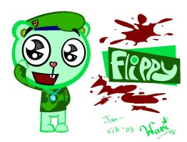 Flippy -MS Paint- by ami2414