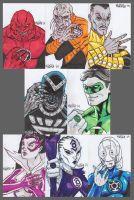 War of Light sketch cards by BloodySamoan
