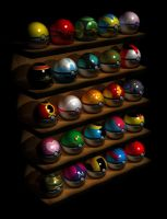 All 25 Pokeballs by Cryseus