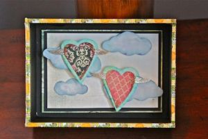 Shadow box winged hearts by sillysarasue