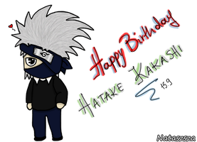 Happy B-day Kakashi by Nataszsza