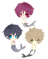 Free! Iwatobi Swim Club Mermaids by Diverche