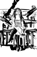 Black Boots and Messy Lines by noise-fetish